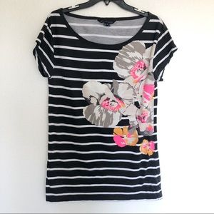 French connection floral striped top small